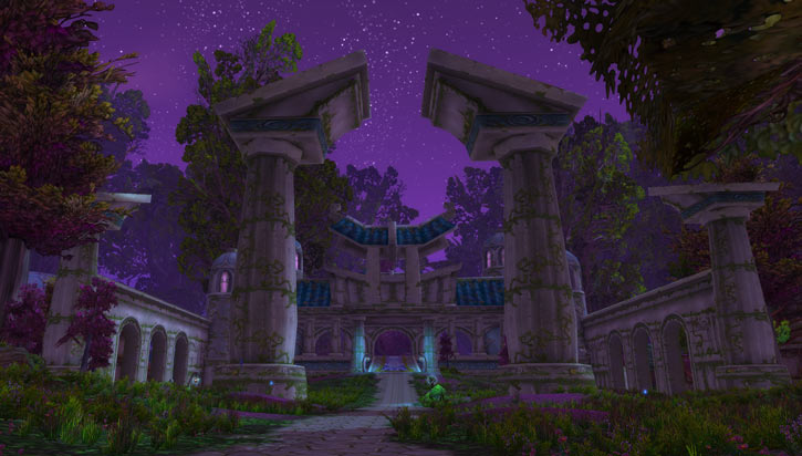 World of Warcraft - Draenei shaman - Ravenstill - Darnassus entrance at night