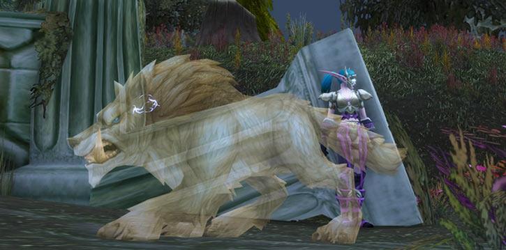 World of Warcraft - Draenei shaman - Ravenstill - ghost wolf form