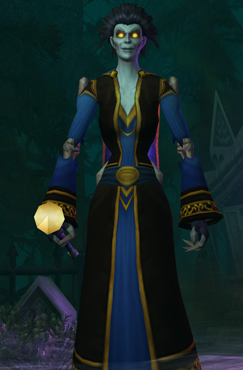 World of Warcraft - Forsaken Shadow Priest black and blue dress