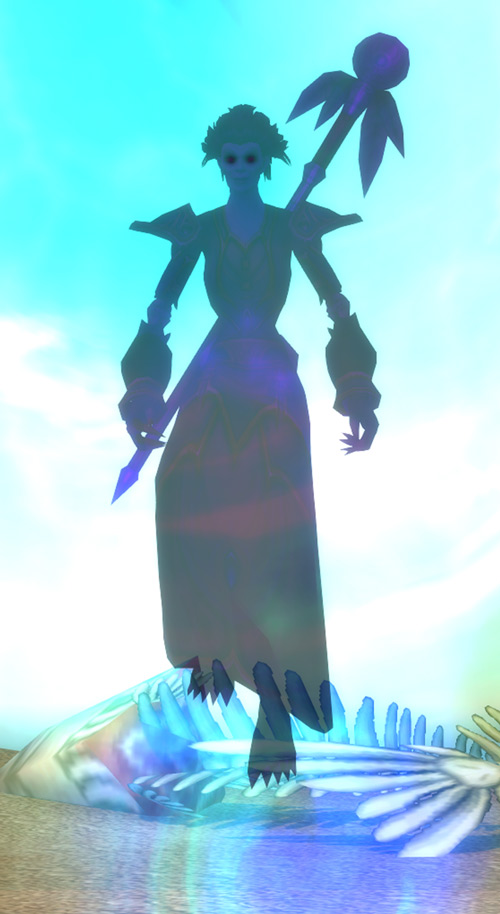 World of Warcraft - Forsaken Shadow Priest shadow form floating
