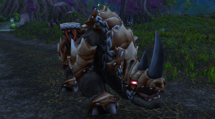 World of Warcraft - immense kodo in the woods