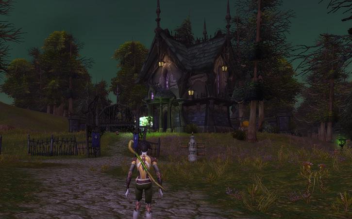 World of Warcraft - Forsaken manor in Tirisfal Glade