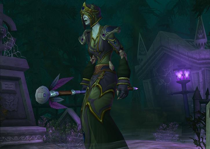 World of Warcraft - Forsaken Shadow Priest in a graveyard