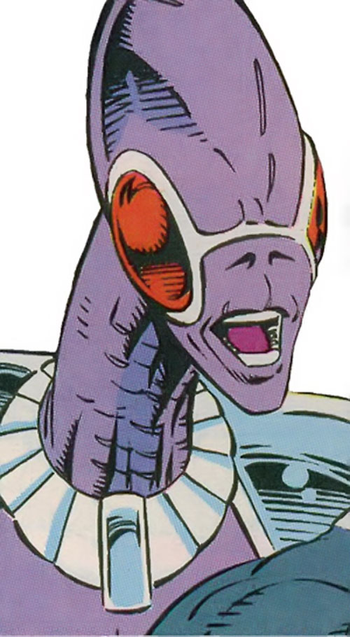 Wormhole of the Inhuman Assassination Squad (Guardians of the Galaxy enemy) (Marvel Comics) closeup