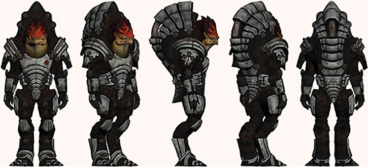 Urdnot Wrex character model sheet