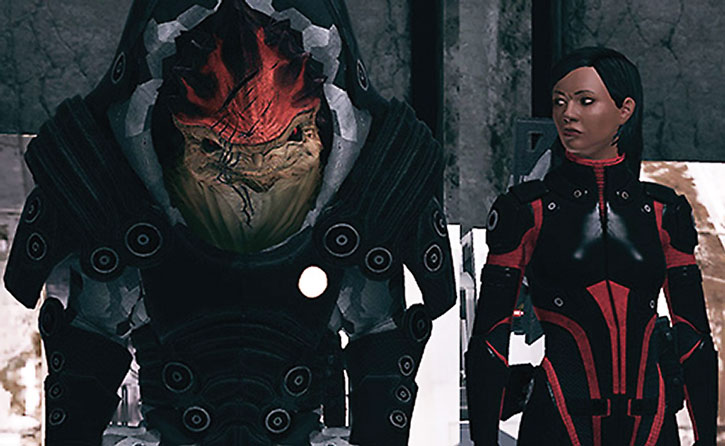 Urdnot Wrex and Commander Shepard