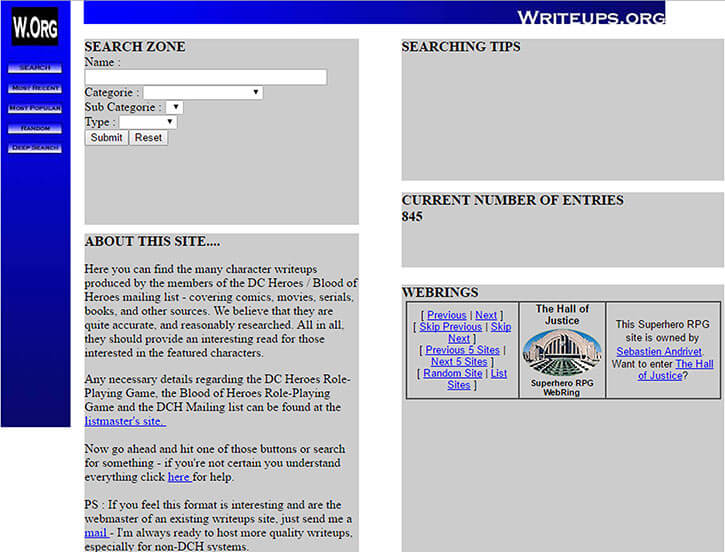 Writeups.org in 2002