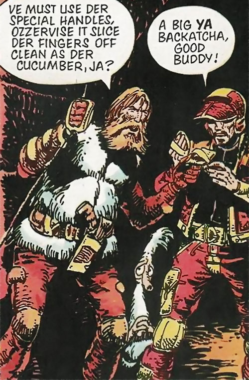 Wulf Sternhammer (Strontium Dog) and allies