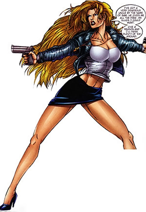 Wynonna Earp (Image Comics) in a miniskirt and tube top