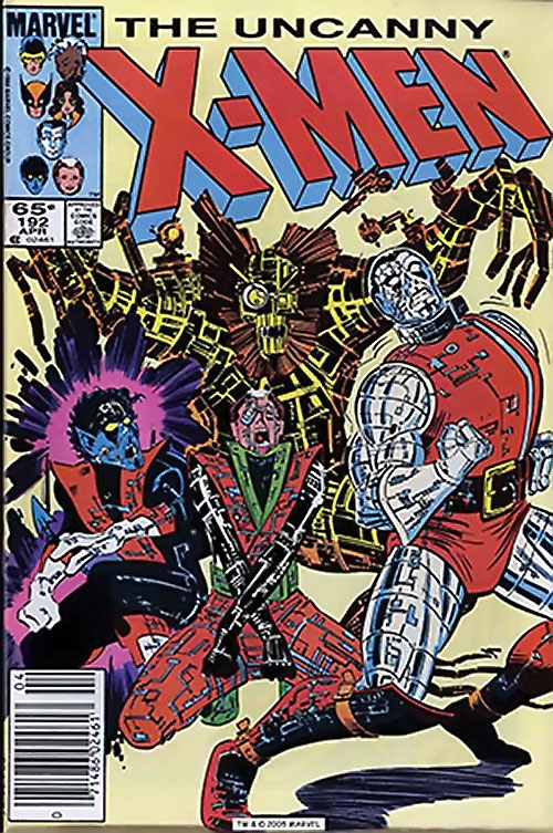 1980s X-Men Comics - issue 192 cover