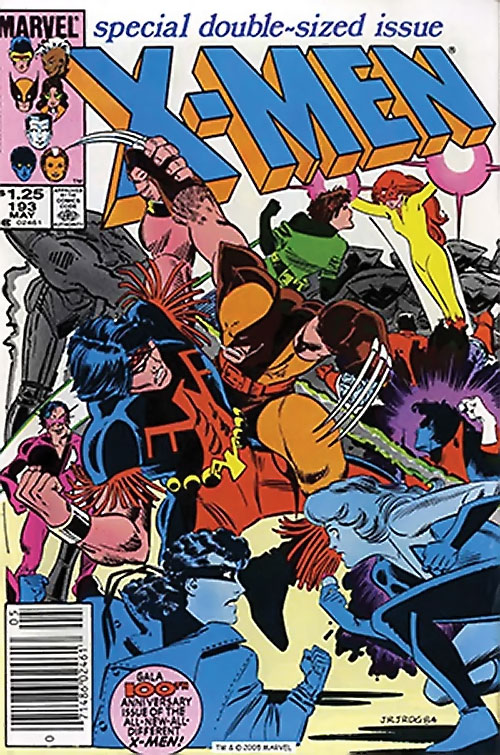 1980s X-Men Comics - issue 193 cover