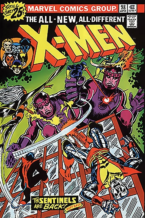 1980s X-Men Comics - issue 98 cover