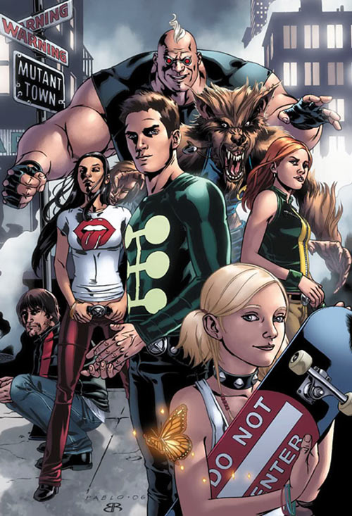 "X-Factor Investigations (Marvel Comics) (Peter ""PAD"" David) team shot in Mutanttown"