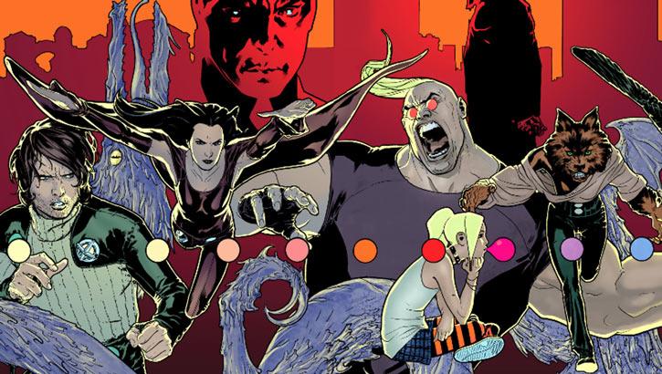 "X-Factor Investigations (Marvel Comics) (Peter ""PAD"" David) early team charging"