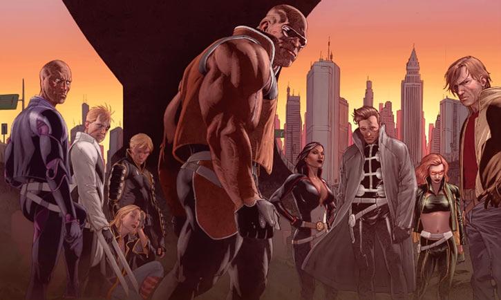 """X-Factor Investigations (Marvel Comics) (Peter """"PAD"""" David) the team under a bridge"""