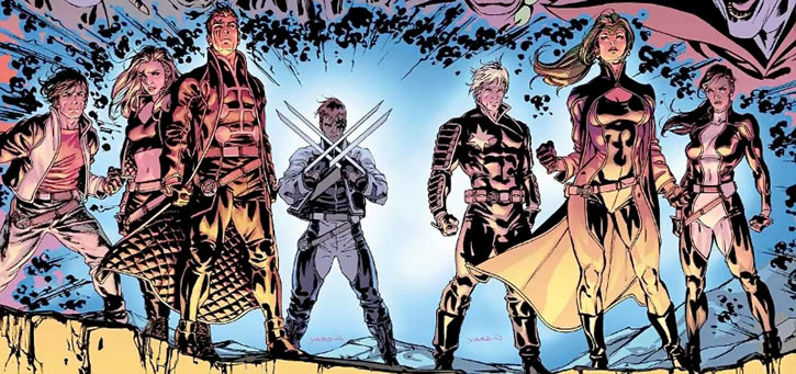"X-Factor Investigations (Marvel Comics) (Peter ""PAD"" David) team ready for battle"