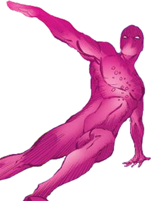 X-Ray of the U-Foes (Hulk enemy) (Marvel Comics) flying