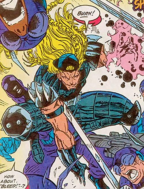 X-Treme (Adam-X) (Marvel Comics) in battle