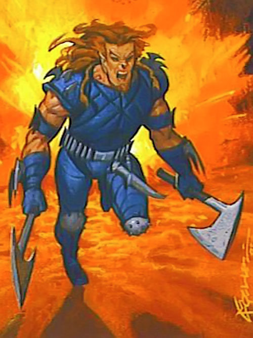 X-Treme (Adam-X) (Marvel Comics) trading card