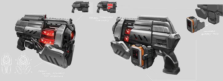 XCOM laser pistol concept art