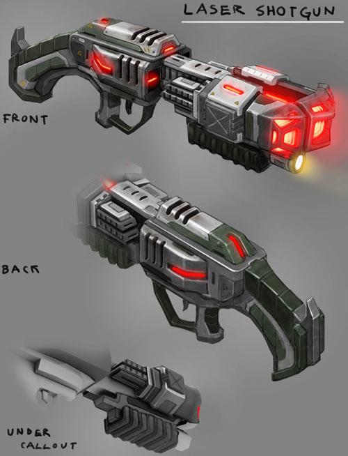XCOM Laser Shotgun concept art
