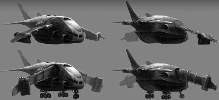 XCOM Skyranger transport concept art