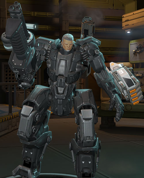 XCom video game - Chilong Zhang in Mk2 MEC body