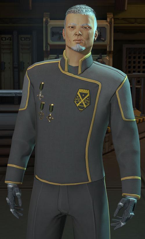 XCom video game - Chilong Zhang in gray uniform