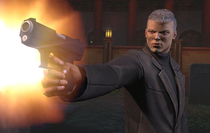 XCom video game - Chilong Zhang firing his pistol