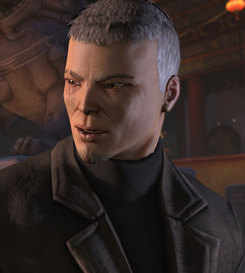 XCom video game - Chilong Zhang face closeup