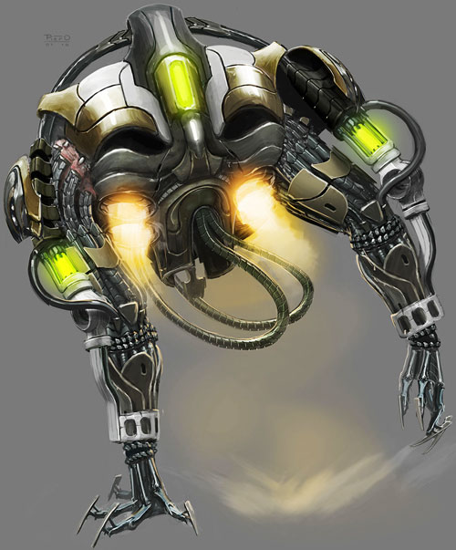 XCom: Enemy Unknown - floater concept art by Piero McGowan - back