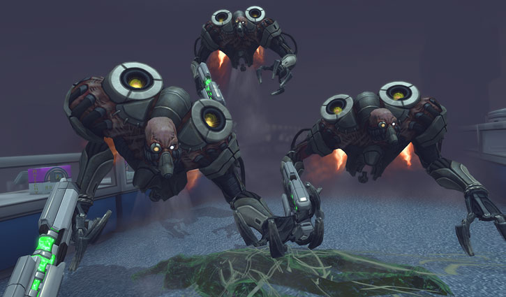 XCom: Enemy Unknown - trio of floater alien cyborgs