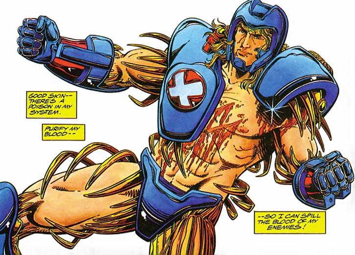 XO Manowar (Aric Dacia) summoning his armor