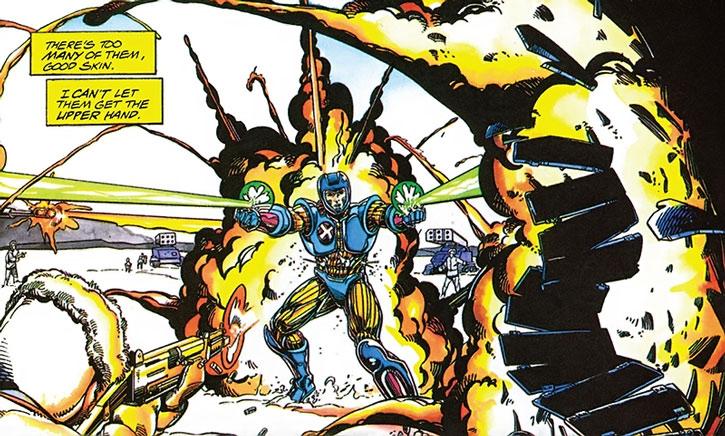 XO Manowar (Aric Dacia) against an army