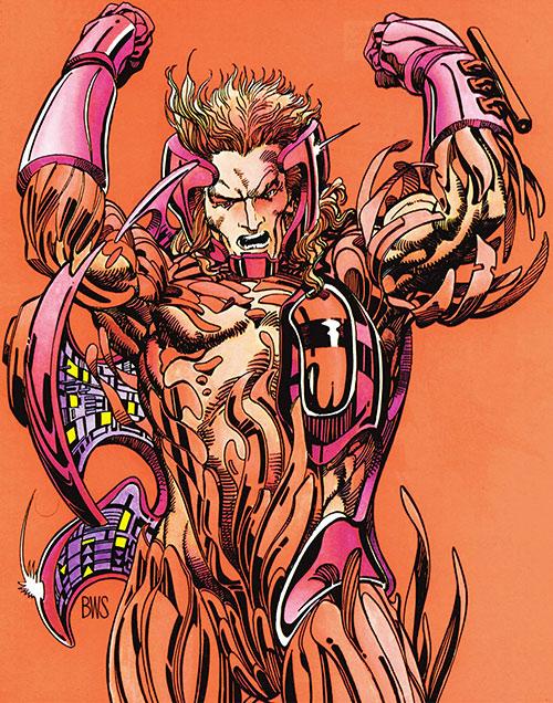 XO Manowar (Valiant Comics original 1990s) armor assembling BWS