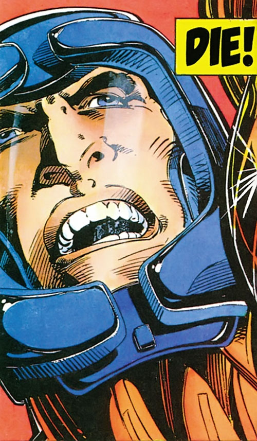 XO Manowar (Valiant Comics original 1990s) helmeted face