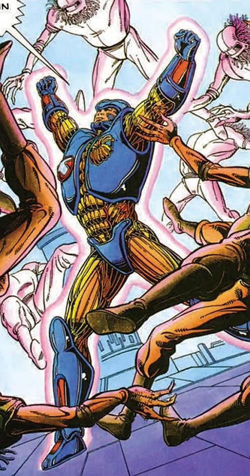 XO Manowar (Valiant Comics original 1990s) fighting aliens