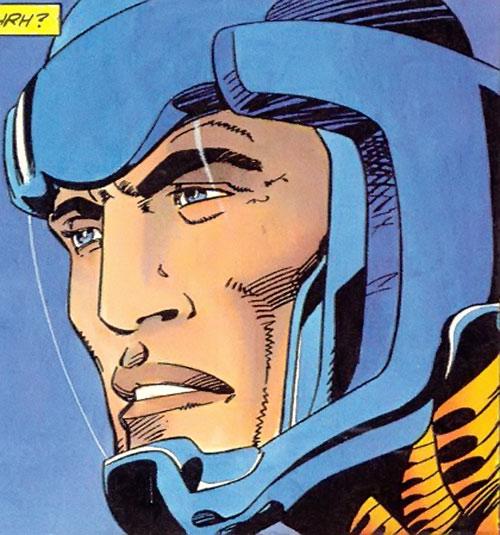 XO Manowar (Valiant Comics original 1990s) helmet face closeup