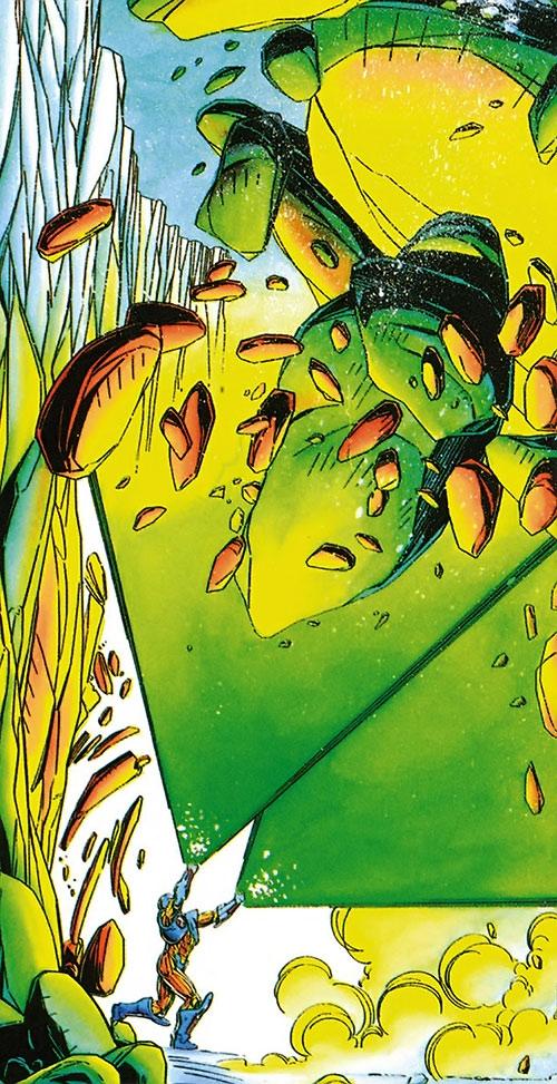 XO Manowar (Valiant Comics original 1990s) huge energy blast upward