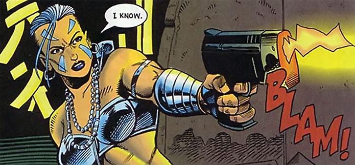 Xantia firing a pistol
