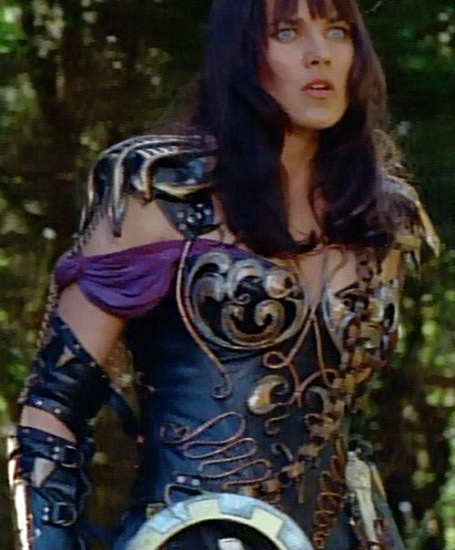 Xena (Lucy Lawless) reacts with surprise
