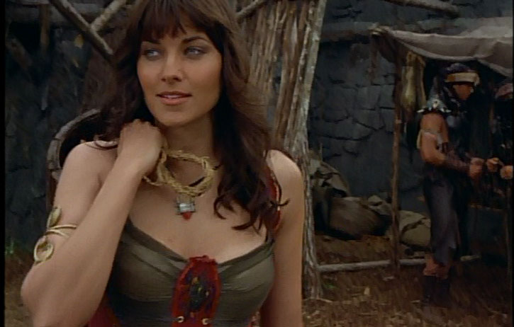 Xena (Lucy Lawless) as a youth, face closeup