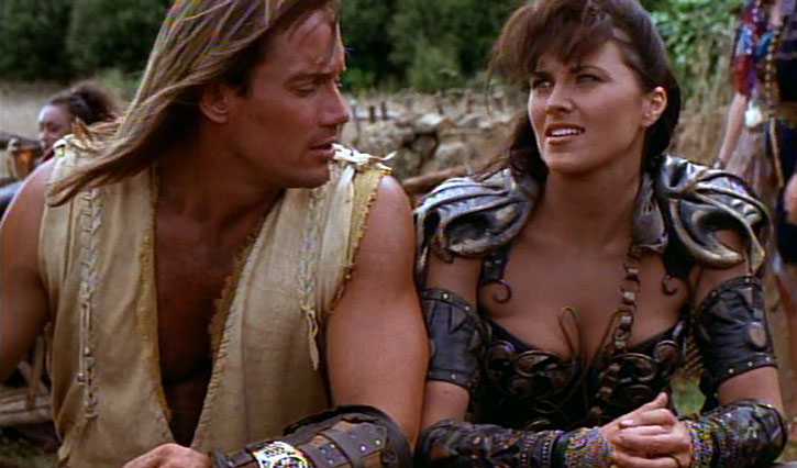 Xena (Lucy Lawless) and Hercules