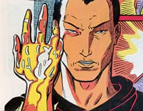 Xi'an of the X-Men 2099 (Marvel Comics) shows his good hand