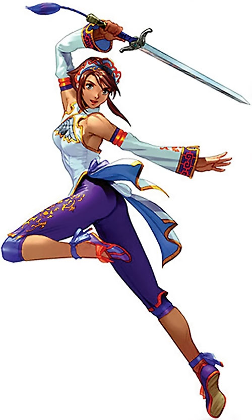 Xianghua Chai (Soul Calibur) in white and violet