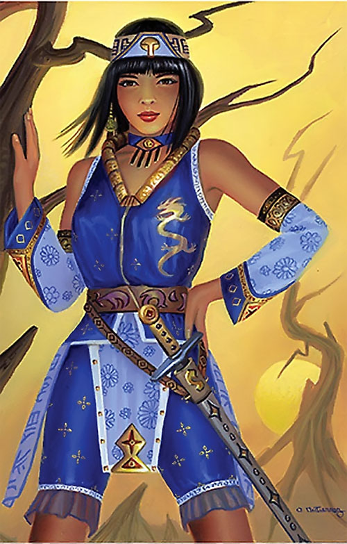 Xianghua Chai (Soul Calibur) in blue by Alan Gutierrez
