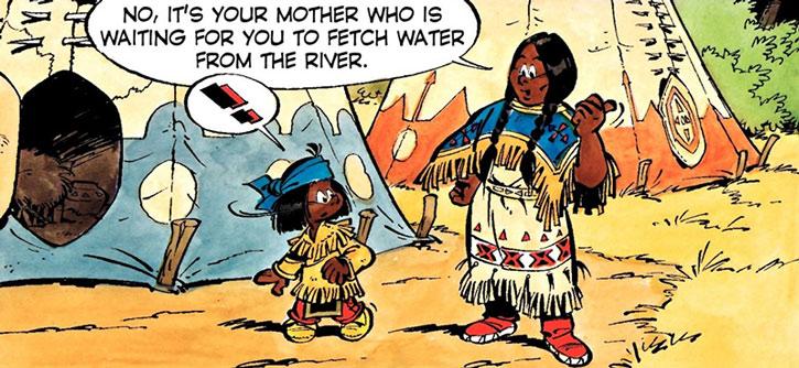 Yakari and his mother