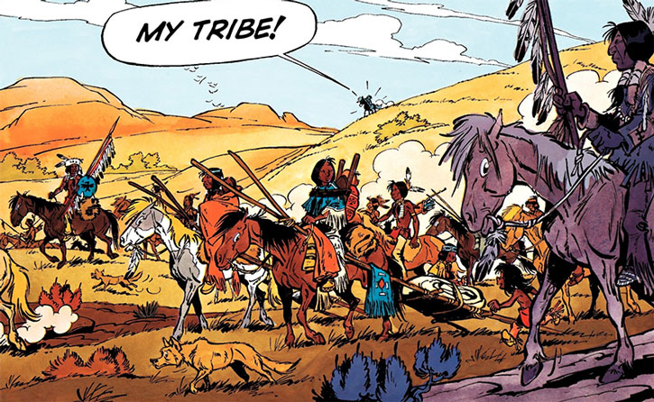 Yakari's tribe on the move