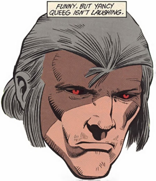 Yancy Queeg of the Outcasts (DC Comics) face closeup