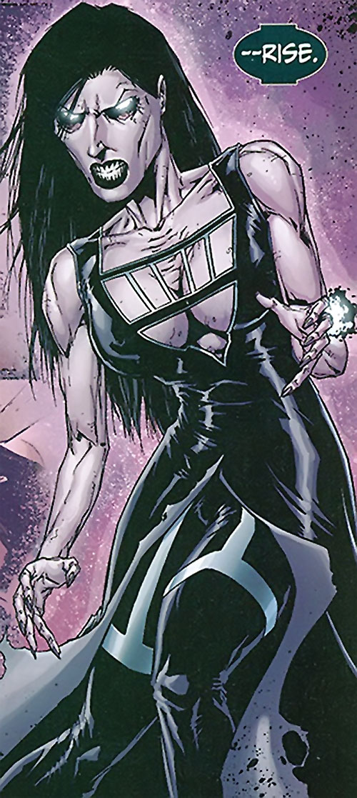 Yasemin Soze (Birds of Prey enemy) (DC Comics) as a Black Lantern zombie